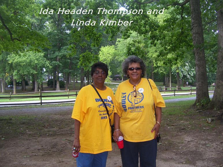 Dudley class reunion- Ida Headen Thompson and Linda Kimber